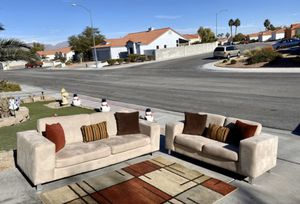 Beautiful Palliser microfiber sofa and loveseat ( FREE DELIVERY 🚚) USED/GREAT CONDITIONS ( NOT PETS-NOT SMOKING VERY CLEAN for Sale in North Las Vegas, NV