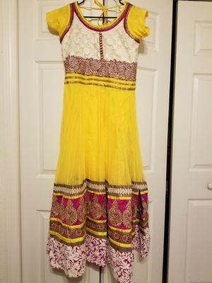 Yellow Indian Pakistani Long Dress for Sale in Sanford, FL