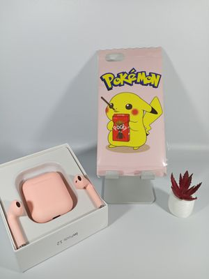 TWSi12 V0.5 matte pink with Pokemon Case for iPhone 6-7 Plus for Sale in Loma Linda, CA