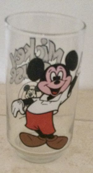 """Vintage Disney Mickey Mouse Club Drinking Glass 5"""" Tall, Walt Disney Productions for Sale in Scottsdale, AZ"""