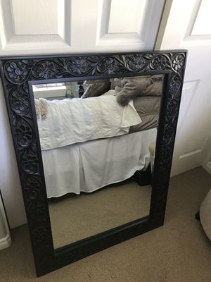 Black Decorative Wall Mirror for Sale in Carlsbad, CA