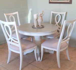 White 6-Piece Dining Table Set - Farmhouse, Shabby Chic, French, Coastal for Sale in Phoenix, AZ
