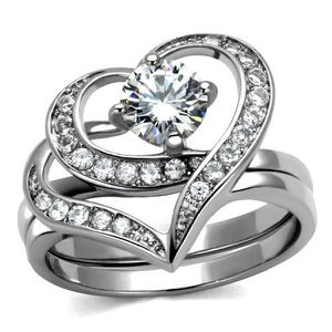 NEW Women Silver Ring Diamond Heart Engagement Proposal Anniversary Wedding Promise Ring for Sale in Las Vegas, NV