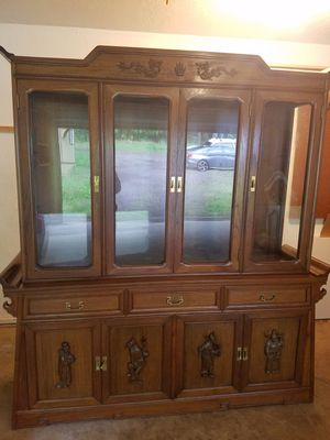 RARE Antique Credenza w/ Dining Table for Sale in Battle Ground, WA