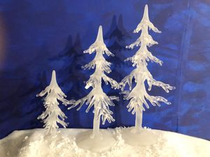 Department 56 Elegant Christmas village icicle trees for Sale in Mesa, AZ