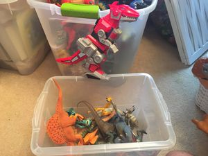 Box of dinosaurs and power rangers dino for Sale in Springfield, VA