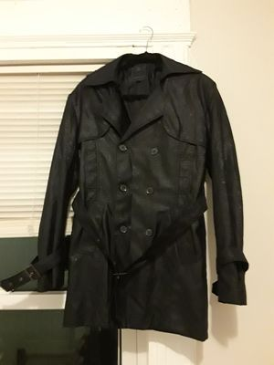 Trench Black Coat for Sale, used for sale  City of Orange, NJ