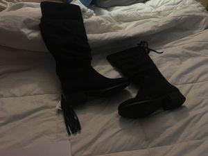 Little girls black boots for Sale in McClellan Park, CA