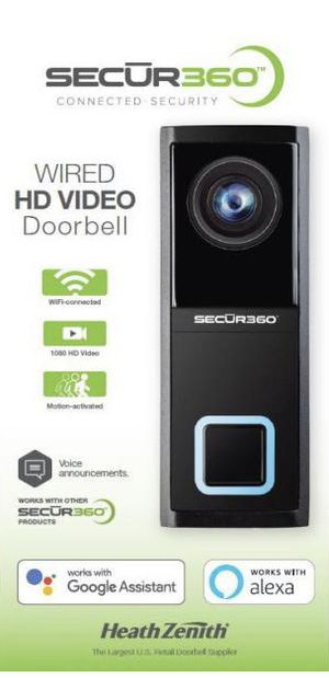 BRAND NEW SECURITY 360) CONNECT SECURITY WIRE HD VIDEO DOORBELL for Sale in Santa Ana, CA
