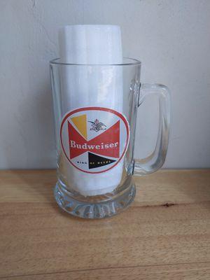 Vintage Bud Pilsner Glass Mug King of Beers Barware Anheiser Advertise Tiki Collectable for Sale in Lake Shore, MD