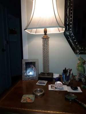 A Wonderful Antique Crystal Lamp for Sale in Los Angeles, CA