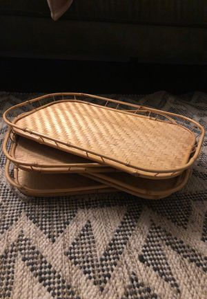4 beautiful bamboo trays for Sale in Tucson, AZ
