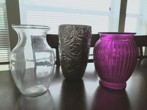 Three Flower Vases for Sale in Round Rock, TX