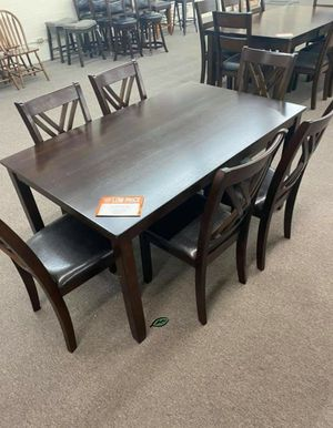 🏷Best OFFER. Eloise Brown 7-Piece Dining Set for Sale in Jessup, MD