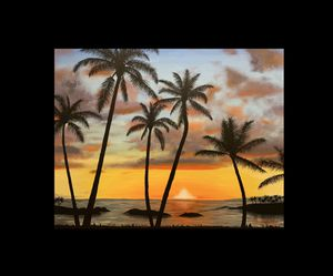 Hawaii Sunset Painting for Sale in Laguna Beach, CA