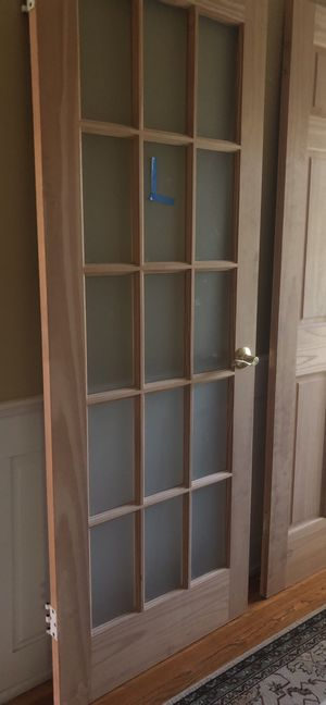 15 Frosted Glass Panel Door Slab for Sale in McLean, VA