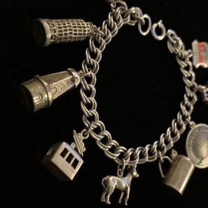 Vintage Sterling Silver Charm Bracelet for Sale in Ontario, CA