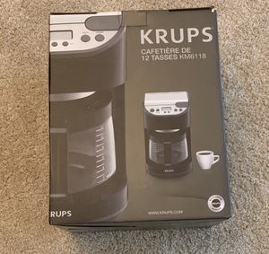 Krups 12 Cup Coffee Maker for Sale in Greensburg, PA