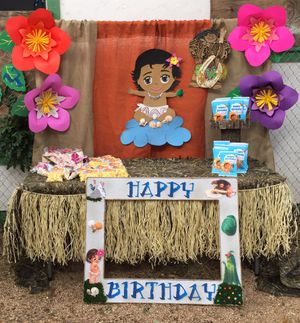 Baby Moana Baby Shower/ Birthday Party Decorations for Sale in Forest Hill, TX