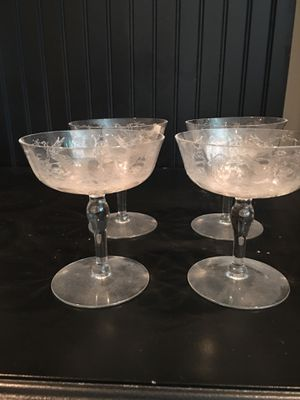 Antique Champagne glasses for Sale in Raleigh, NC