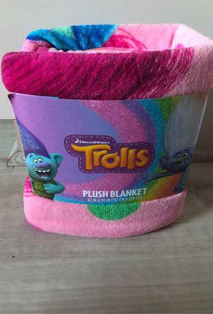 Trolls plush blanket for Sale in Victorville, CA