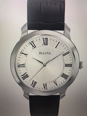 New in box Men's Bulova Watch with Leather Strap - $150 for Sale in Poway, CA