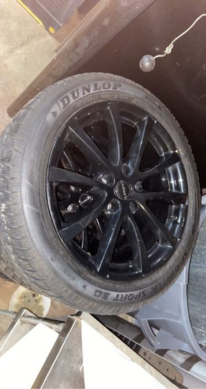 Black 5x114 rims with almost brand new tires for Sale in West Haven, CT