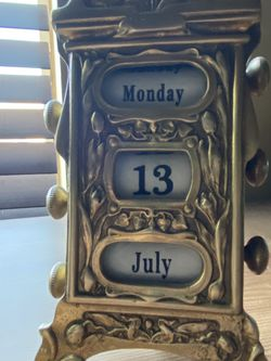 Brass Day And Month Calander for Sale in Silverado,  CA