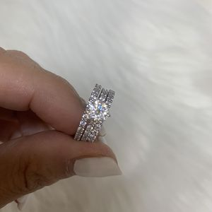 Engagement and wedding ring set size 6 for Sale in Irwin, PA