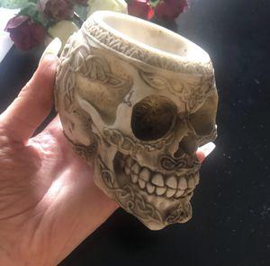 Celtic acrylic skull pen jewelry holder ash tray for Sale in Denver, CO