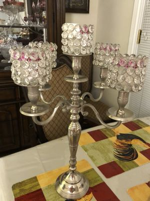 Crystal candle stand for Sale in Los Angeles, CA