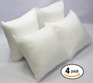 """IZO Square Sham Stuffer Hypo-Allergenic Poly Pillow Form Inserts, 20"""" L x 20"""" W (4 Pack) for Sale in Indianapolis, IN"""