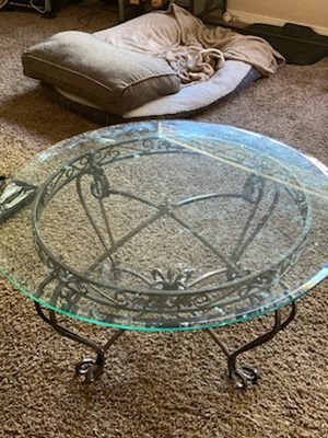 Glass center coffee table for Sale in Denver, CO