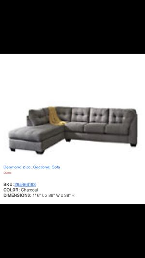 Grey sectional couch fairly new for Sale in Queens, NY