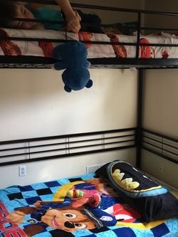 Bunk Bed In Mint Condition. Doesn't Come With A Mattress Full Size, And Not Missing Any Screws No Scratches Just Perfect for Sale in Lincoln Park,  MI