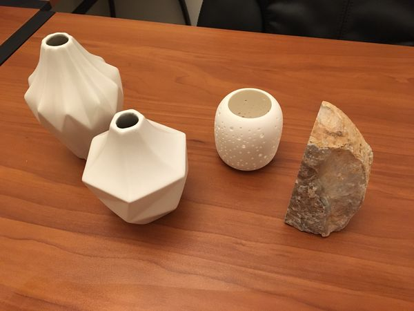 New interior items decoration mini vases candle holder stone west elm
