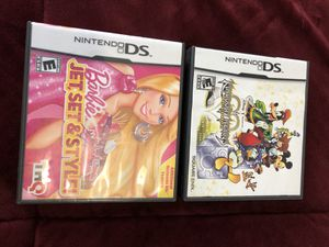 Nintendo DS 2 game for$25 Barbie and kingdoms Hearts is till in good condition like New for Sale in Sicklerville, NJ