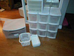 Plastic drawer organizers for Sale in Orange, CA
