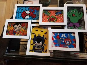 Hand Painted superhero pictures for Sale in Chesapeake, VA