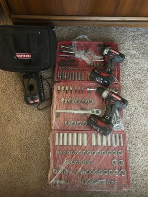 Craftsman Impact , Drill and socket set with gear wrenches for Sale in Denver, CO