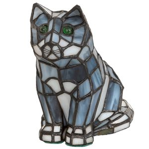 Elegant Design Stained Art Glass Cat Table Lamp for Sale in Los Angeles, CA