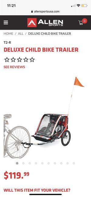 Deluxe child bike trailer for Sale in Chula Vista, CA