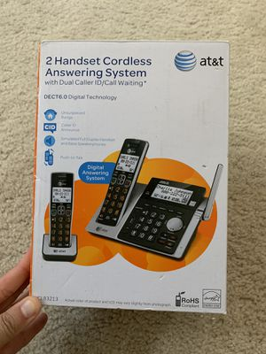 2 handset cordless answering system for Sale in San Diego, CA