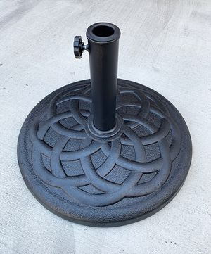 """(NEW) $30 Patio 19"""" Round Umbrella Stand Resin Base Outdoor (Weight 31 lbs) for 1.5"""" Pole for Sale in South El Monte, CA"""