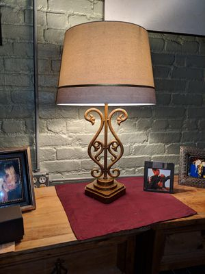 Gold Lamp and Shade for Sale in New York, NY