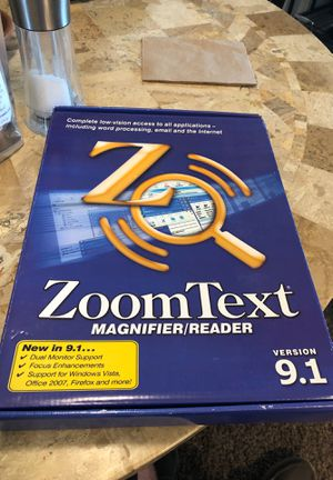 ZoomText 9.1 for Sale in Tacoma, WA