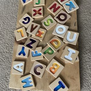Wooden Alphabets with pictures in back. for Sale in Pittsburgh, PA