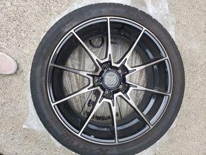 18 inch black rims and tires LIKE NEW for Sale in Everett, WA
