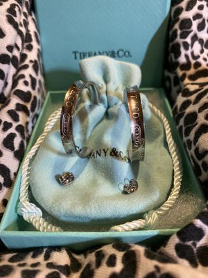 Tiffany & Co post & hoop earrings like new for Sale in North Royalton, OH