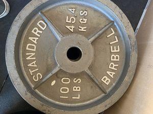 100lb barbell plates for Sale in Bellflower, CA